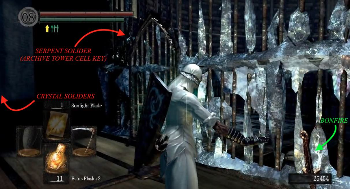The dukes archives dark souls wiki alarming exiting the cell will trigger a cinematic showing a serpent soldier pulling a lever to ring a shrill alarm that sends the monsters in the cell biocorpaavc Gallery